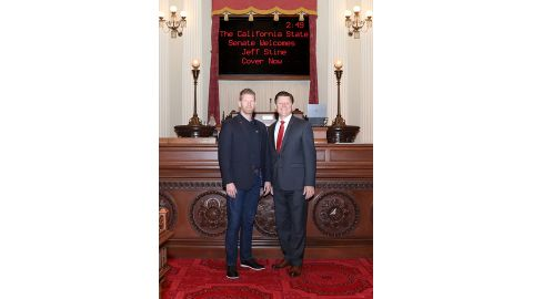 Senator Brian Jones Introduces Retired El Cajon Police Officer Jeff Stine to the Senate Floor