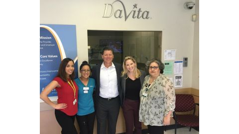 Sen. Jones Visits Local Patients with Kidney Disease at DaVita Escondido Dialysis Center