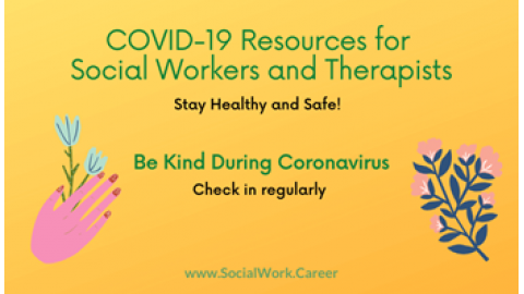 Covid19 Resources for Social Workers and Therapists